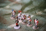 Elves on parade. I must admit I know next to nothing about Napoleonic uniforms, so I painted these based on the pictures on the game box.