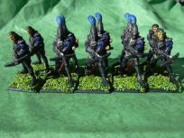 Crossbow elves from Grenadier, scuplted by Mark Copplestone.