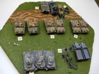 The other German battalion. In the actual games, these were mixed up to provide two kampfgruppes.