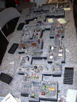 The dungeon fully populated.