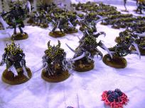 Tyranid warriors form a solid elite core. This is the assault brood.