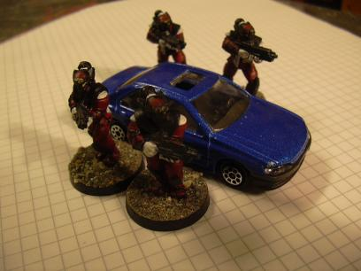 Small Cuts - Viability of 1:43 Toy Cars in 28mm Gaming