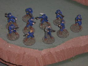 Copplestone Future Warriors cops. I quite like these chaps.