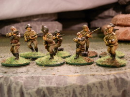 I got some riflemen from The Assault Group to bring my rifle platoon up to strength without resorting to NKVD for reinforcements.