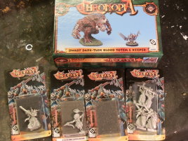 I finally found it! The dwarf dark-tusk totem! And I got some blisters to go with it. Ironically the blisters were much more expensive than the box.