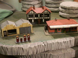 Some new houses I built. These are actually HO-scale railway models.