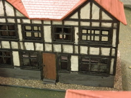 I just hate painting these semi-timbered buildings.