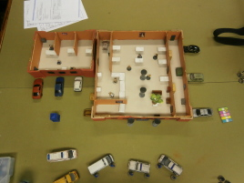Overhead view of the bank.