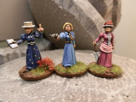 The ladies assemble for a nice afternoon tea with a modicum of revolver work.