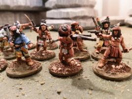 Closeup on the warriors.