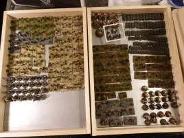 The entire collection. Interestingly the only models too high to fit into these shallower storage boxes are... the dwarfs.